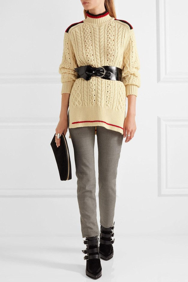 Isabel Marant   Edison oversized cable-knit wool-blend sweater   NET-A-PORTER.COM
