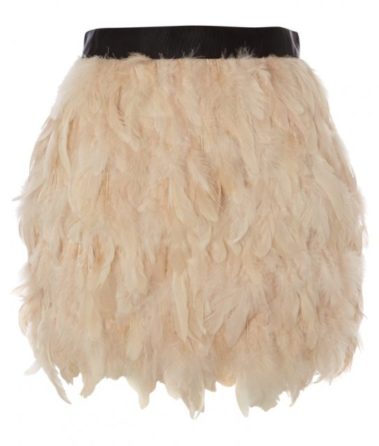 Lipsy feather skirt £60, Lipsy | mystreetchic.com