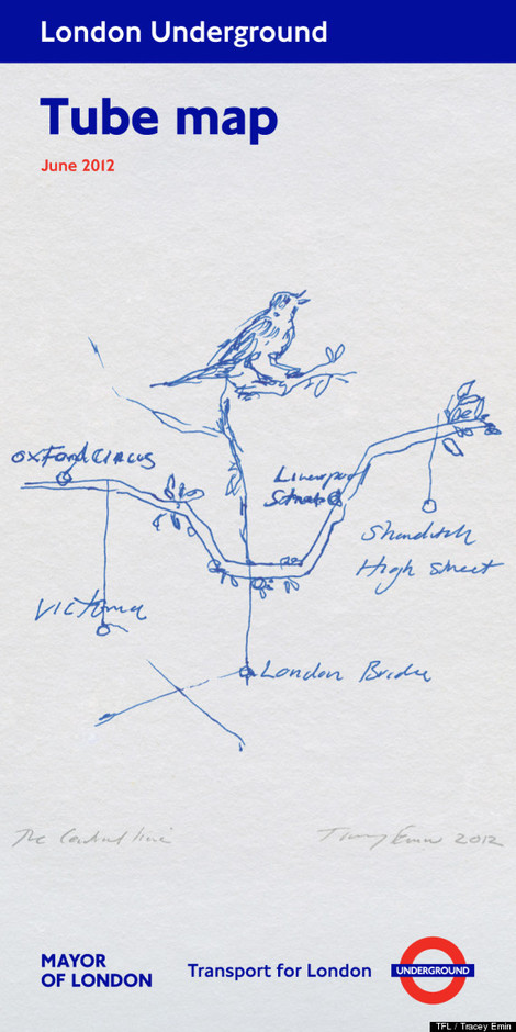 Tracey Emin Designs New Olympic Tube Map
