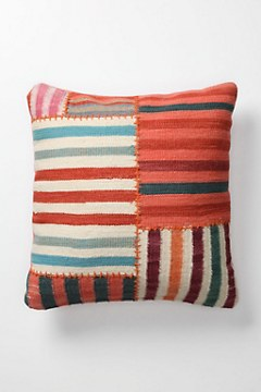 Banded Dhurrie Pillow, Square - Anthropologie.com