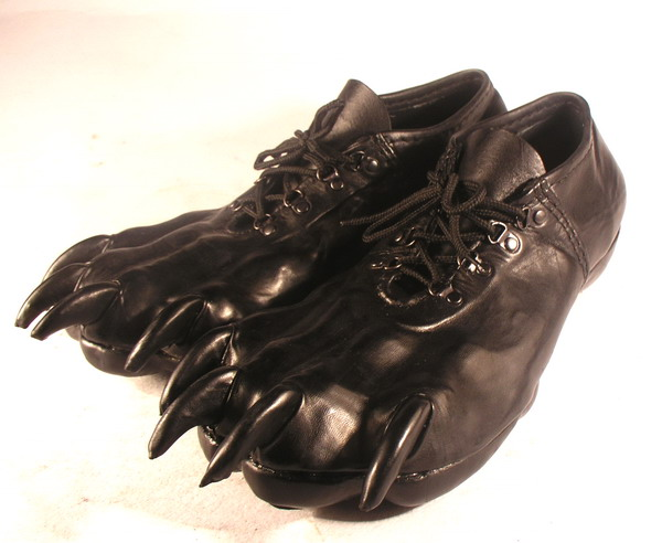 Bob Basset's Lair – Leather Paw Shoes. Кожаные Тапки Лапы.