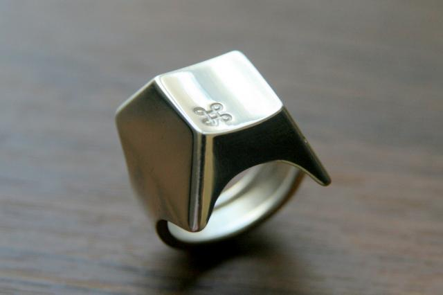 Keyboard Ring by COVO on Shapeways