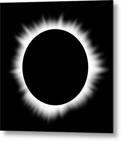 Solar Eclipse With Corona Metal Print By Don Farrall