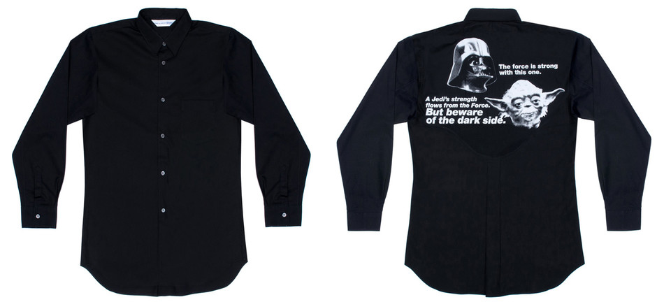 DSM E-SHOP : CDG Shirt x Star Wars Shirt (White/Black)