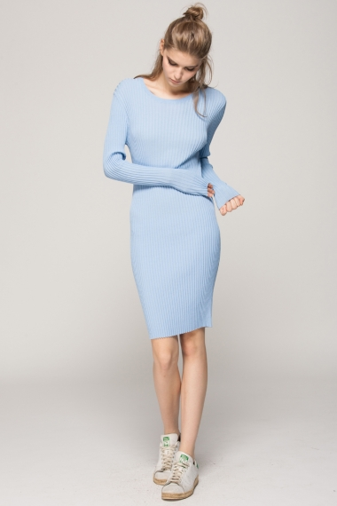 Knitted tight dress - FrontRowShop
