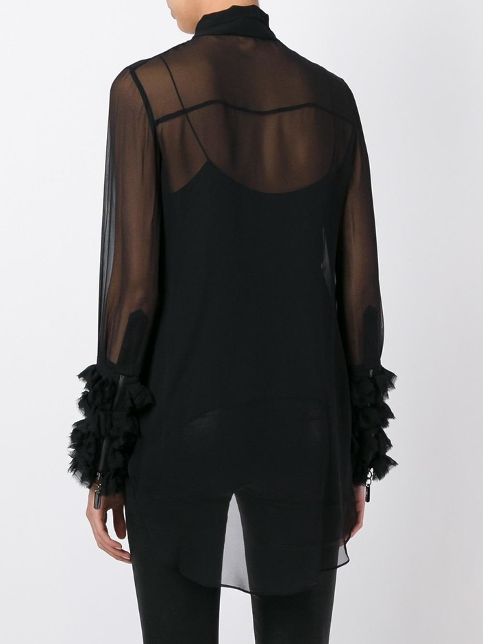Thomas Wylde Sheer Pussy Bow Shirt - Soho-soho - Farfetch.com