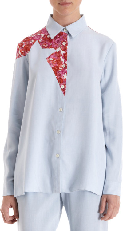 Thakoon Addition Floral Panel Button Front Shirt Sale up to 70% off at Barneyswarehouse.com