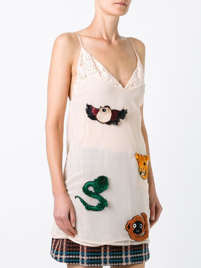 Au Jour Le Jour Embroidered Slip Dress - Jofré - Farfetch.com