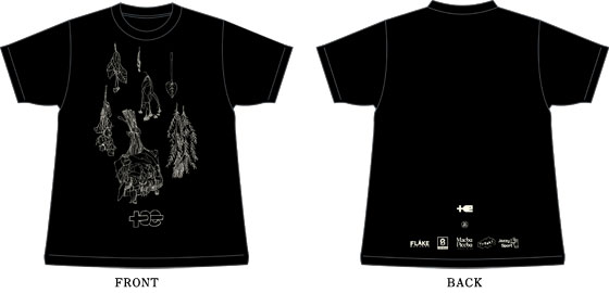 TOE / EU TOUR 2012 T-SHIRT (DESIGNED BY TA-1/ FLAKE EXCLUSIVE COLOR)SIZE-L / T-SHIRT / ¥2,625