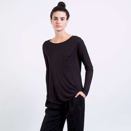 The Ryan Long Sleeve - Black – Everlane
