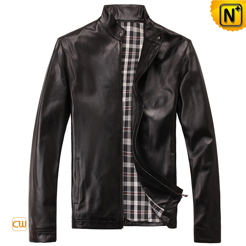 Men's Casual Slim Fit Motorcycle Leather Jackets CW812206 | CWMALLS