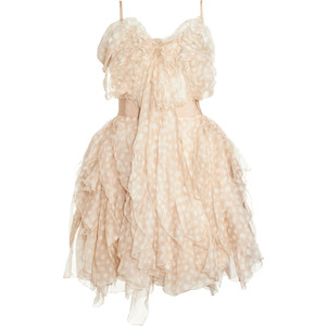 Nina Ricci Ruffled Cocktail Dress - Pale Rose size 36 - Polyvore