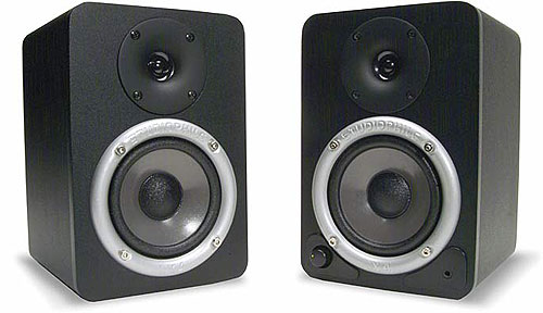 """M-audio STUDIOPHILE DX4 - M-AUDIO STUDIOPHILE DX4, active 4"""" desktop monitor system. 18 watts of power per channel with 4"""" pol"""
