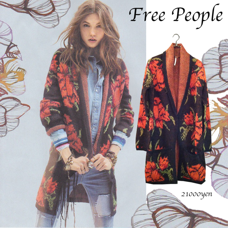 Free People Floral Long Cardigan|Wardrobe ワードローブ