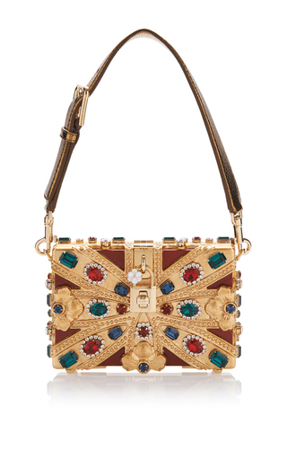 Crystal-Embellished 'Union Jack' Clutch by Dolce & Gabbana | Moda Operandi