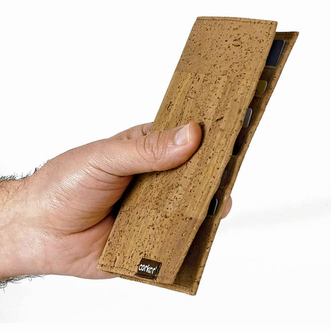 Cork Bi-fold Wallet for Cards & Passport | Free Shipping | Corkor.com