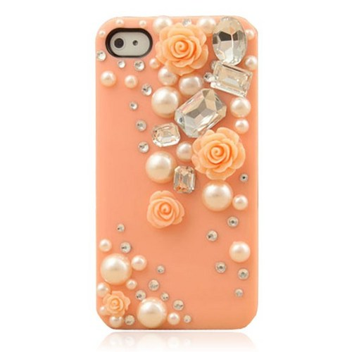 Lovely Princess Rose With Pearl IPhone 4/4S Case