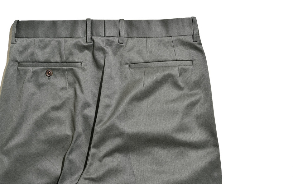 San Joaquin Cotton Chino Pleated Tapered-カーキグリーン