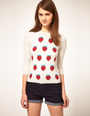 ASOS | ASOS Strawberry Jumper at ASOS