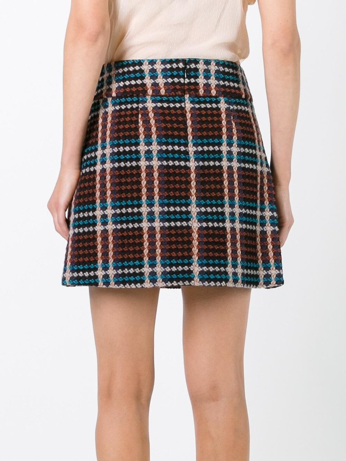 Au Jour Le Jour Checked Skirt  - Jofré - Farfetch.com