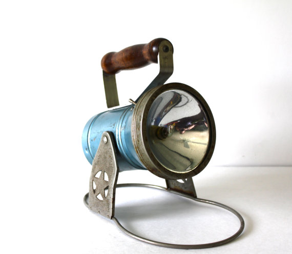 Vintage Star Headlight Flashlight by vntagequeen on Etsy