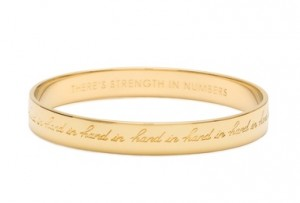 """Kate Spade """"Hand in Hand"""" Bangle and Women for Women International 