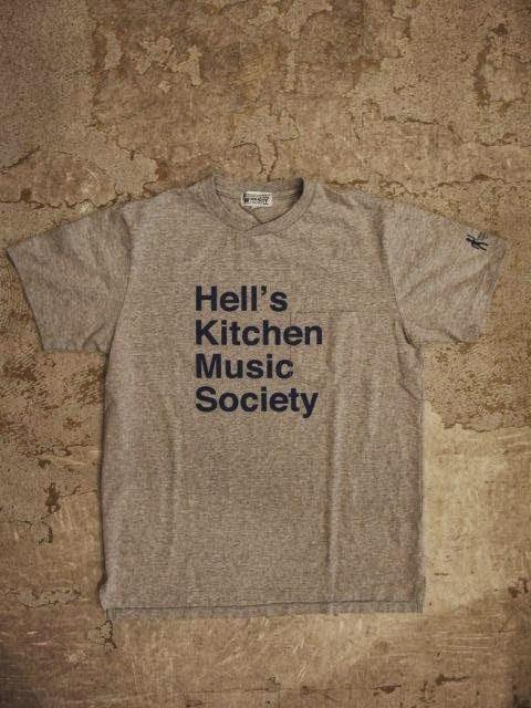 """SUNRISE MARKET: NEPENTHES NY × Engineered Garments × SUNRISE MARKET """"Crossing Crew T-Shirt with Hell's Kitchen Music Society Print"""""""
