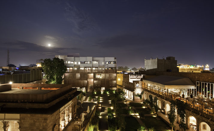The World's Best Holiday Building of 2011 Welcomes 2012 // The RAAS Hotel in Jodhpur, India | Yatzer