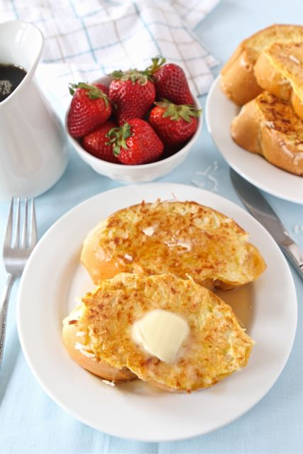 Coconut Crusted French Toast   Coconut French Toast Recipe   Two Peas & Their Pod