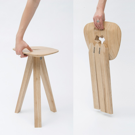 Dezeen » Blog Archive » Folding Stool by Jack Smith
