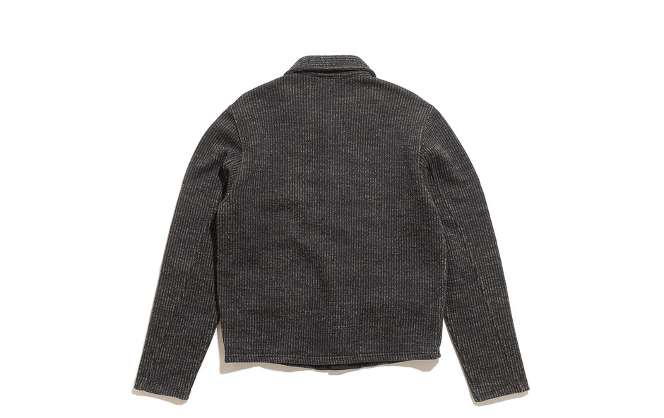 Cotton Blend Fleece Jacket-Black Multi