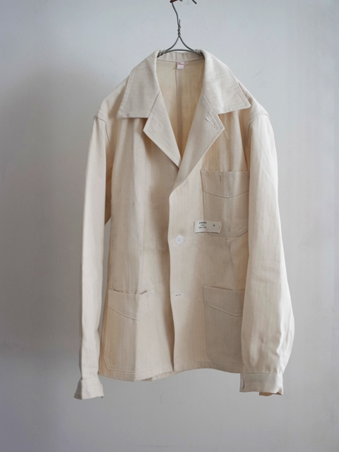 -LILY1ST VINTAGE- 1960's deadstock french work tailored jacket - FLORAISON