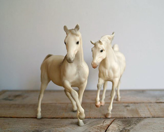 Vintage Breyer Andalusian Stallion and Arabian Mare by 5gardenias