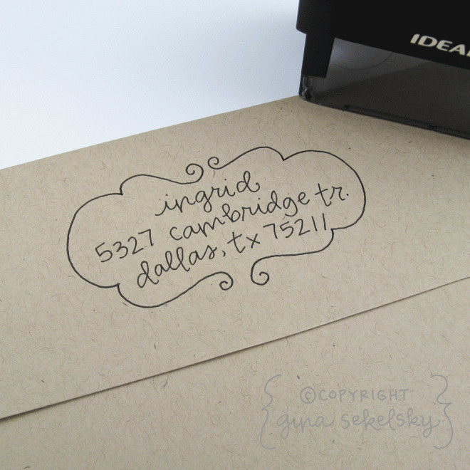 Handwritten Address Stamp : Ingrid | Poppytalk Handmade