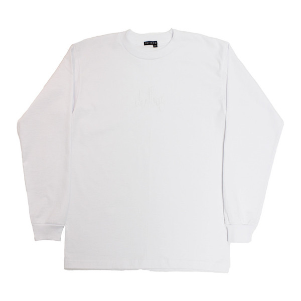 White Embroidered Connect Longsleeve | dertbag