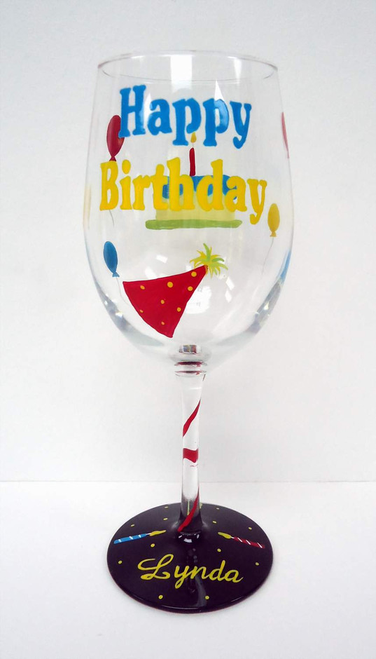Birthday Wine Glass | Pendragon ArtworksPendragon Artworks