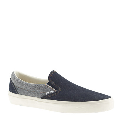 Vans® for J.Crew classic slip-on sneakers in two-tone denim : sneakers | J.Crew