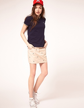 Lacoste Live | Lacoste Live Swallow Embroidered Skirt at ASOS
