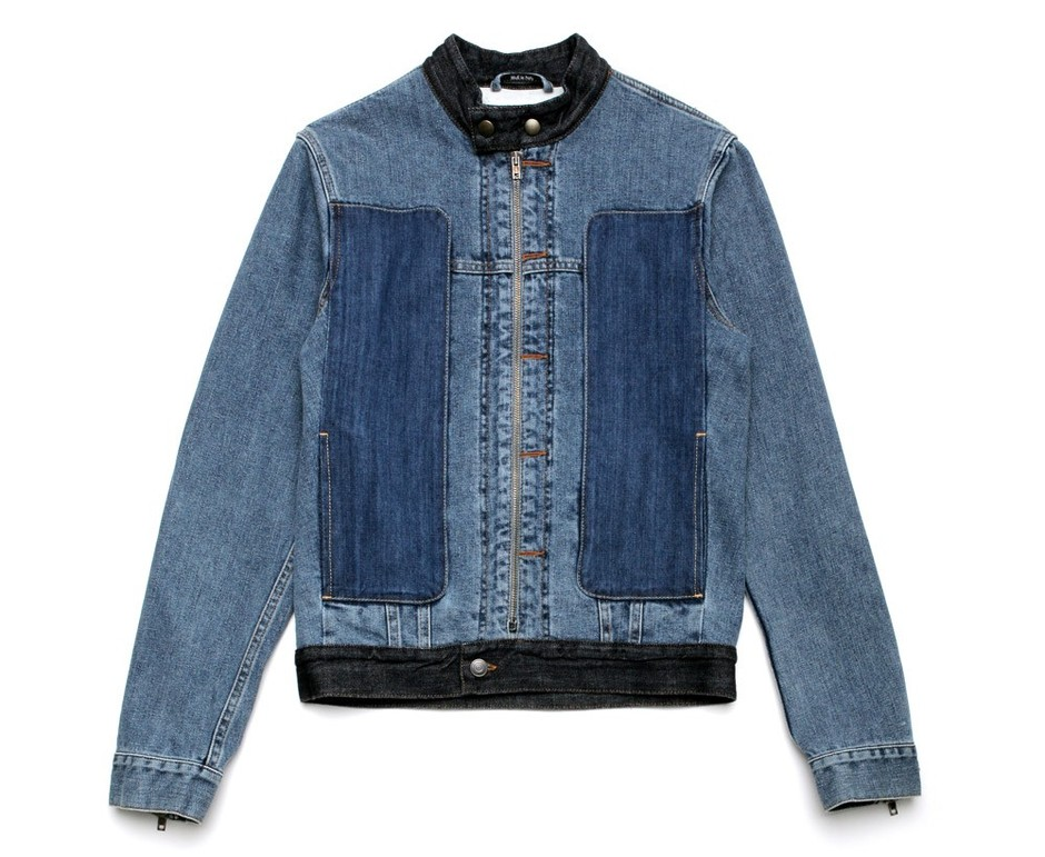 Maison Martin Margiela 10 Men's Patch Denim Jacket in indigo blue at oki-ni