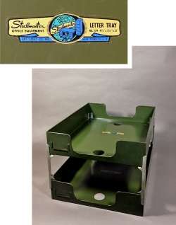 "1950's ""2-tier"" Metal Paper Tray - FUNNY SUPPLY"