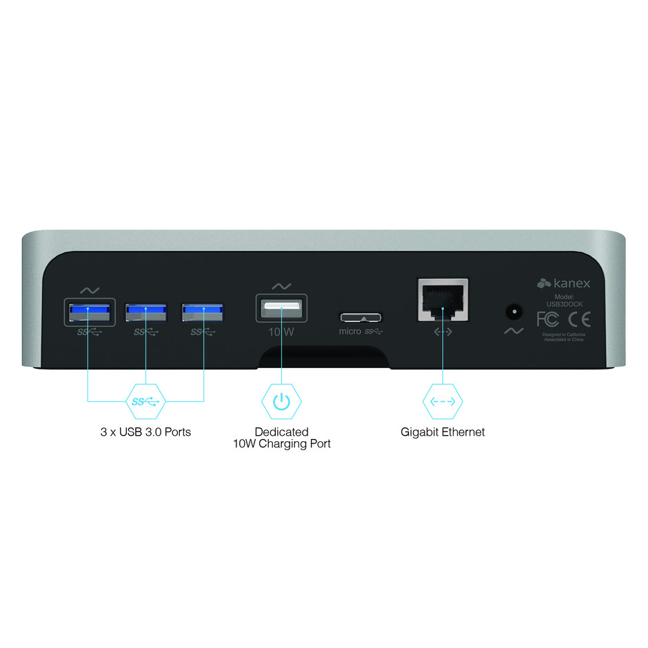 Kanex simpleDock - 3-Port USB 3.0 Hub, Gigabit Ethernet and Charging Station