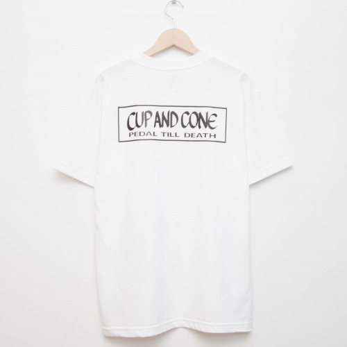 Duct Tape Tee - White - cup and cone WEB STORE