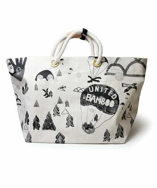 united bamboo LADIES / united bamboo PRINT CANVAS TOTE BAG(ショルダーバッグ) - ZOZOTOWN