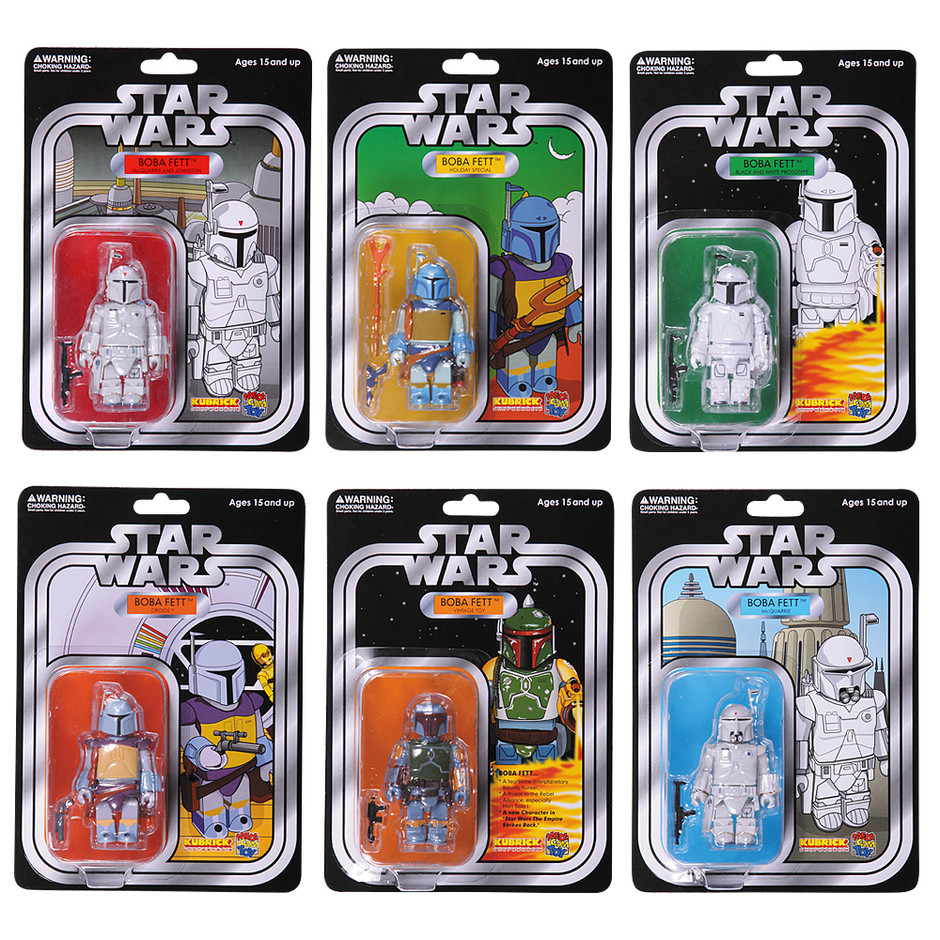MEDICOM TOYオフィシャルHP - STAR WARS™ KUBRICK BOBA FETT™ COLLECTION SET OF 6pcs. COLLECTORS EDITION