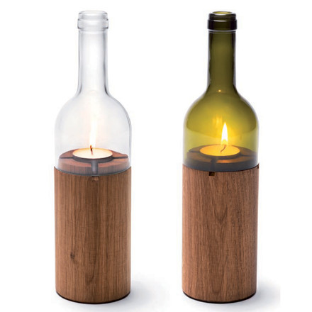 WINE BOTTLE TEA LIGHT HOLDER | Votive, Light, Sconce, Lantern, Party Lights | UncommonGoods
