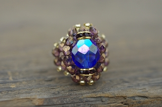 バグアパー / Bague A Part ! Crystal Beads Ring