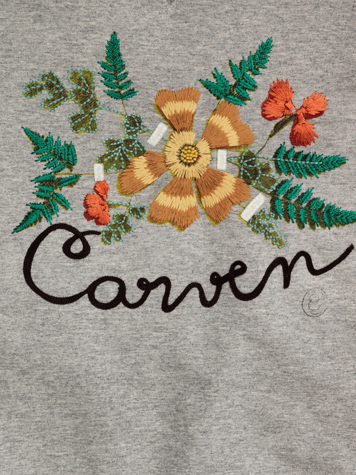 【LASO ラソ】2013/SPRING■CARVEN■Floral embroidery sweatshirt カルバン