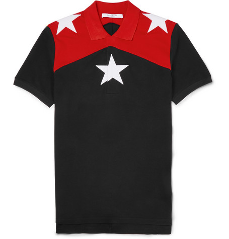Givenchy - Cuban-Fit Star-Embroidered Cotton-Piqué Polo Shirt | MR PORTER
