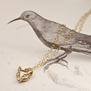 RUST jewellery — gold fox necklace......... {キツネのネックレス gold }