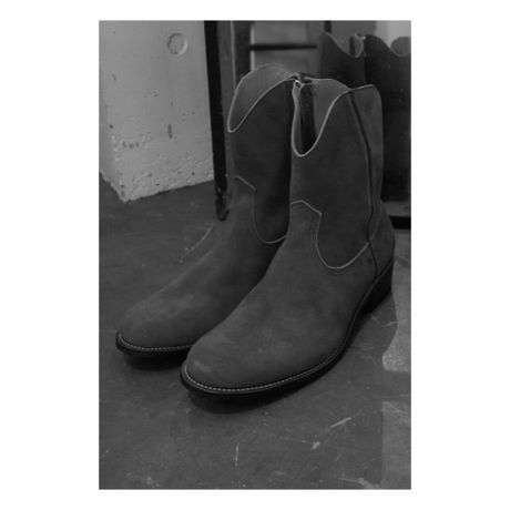 Western Side Zip Suede Boots | The Letters